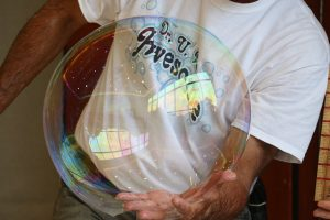 Largest Soap Bubble Blown by Hand