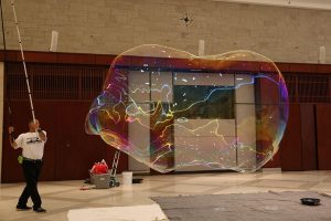 Largest Indoor Free Floating Soap Bubble (2015)