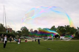 Largest Outdoor Free Floating Soap Bubble (2015)
