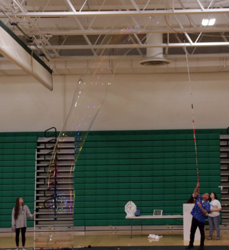 Guinness World Record Holder Tallest Free Standing Soap Bubble